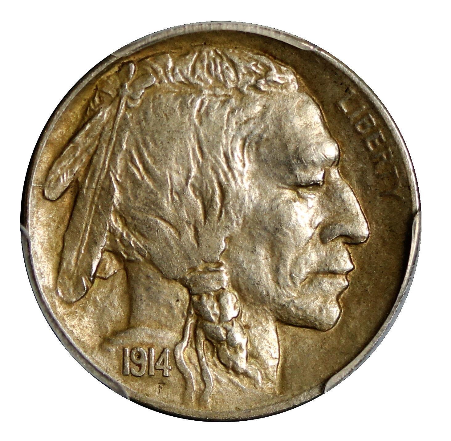 1914-D Buffalo Nickel Graded PCGS AU50