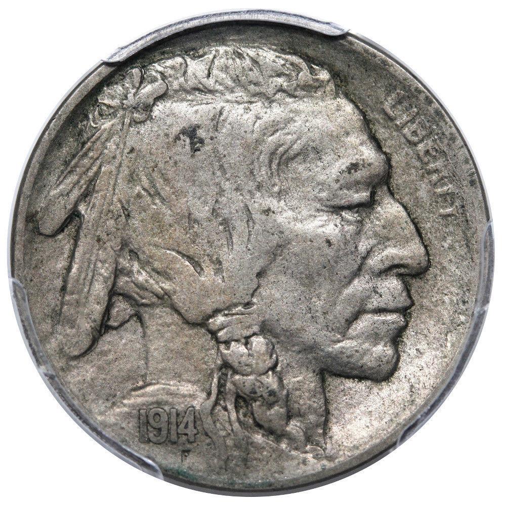 1914-D Buffalo Nickel Graded PCGS XF45