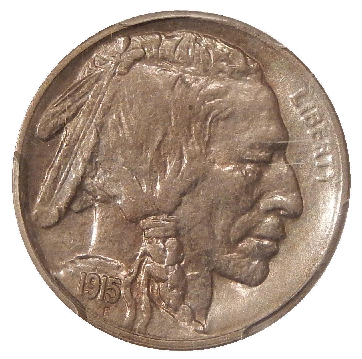 1915-S Buffalo Nickel Graded PCGS AU58