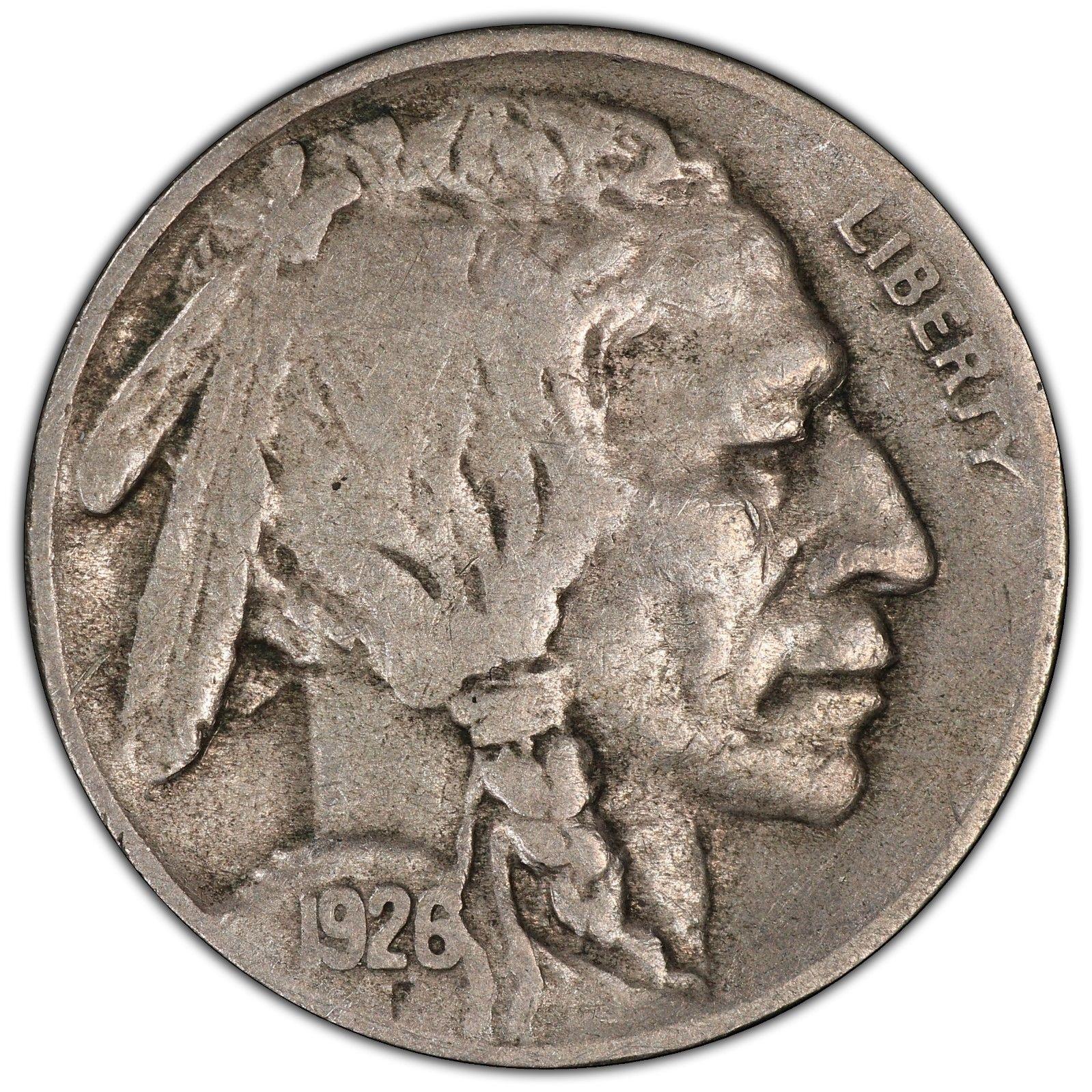 1926-S Buffalo Nickel Graded PCGS VF20