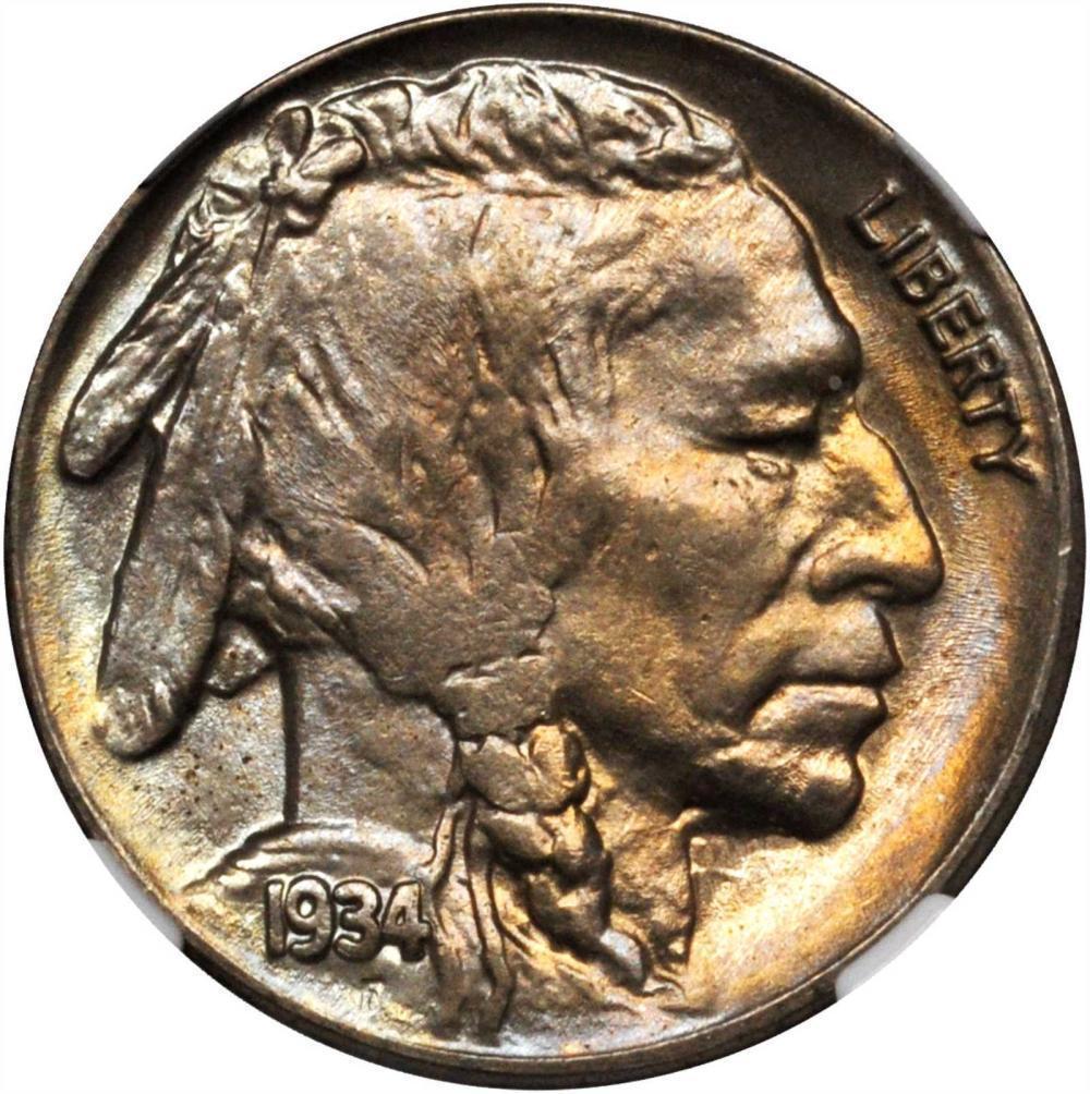 1934 Buffalo Nickel Graded NGC MS64