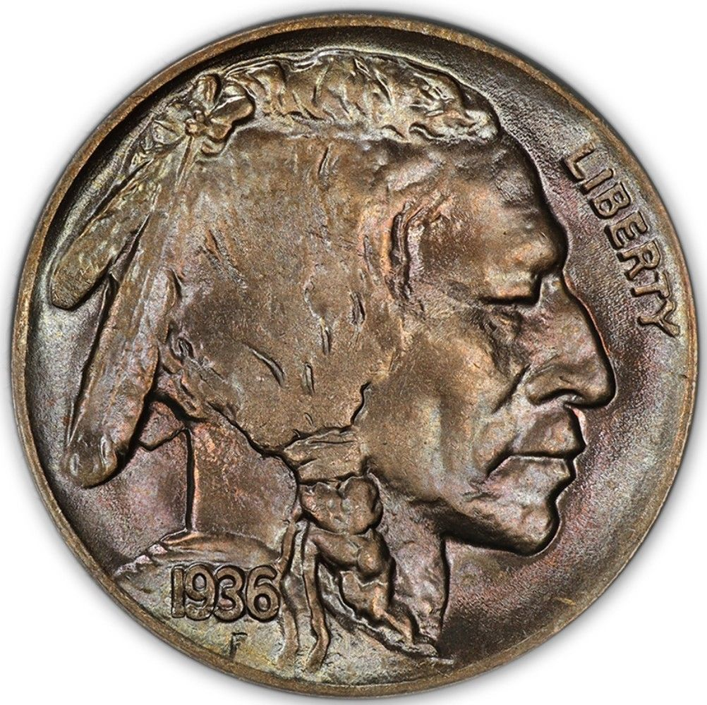 1936-D Buffalo Nickel Graded PCGS MS67