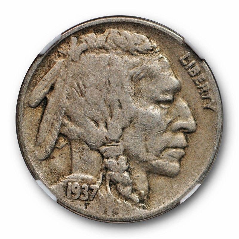 1937-D Buffalo Nickel Graded PCGS VF35