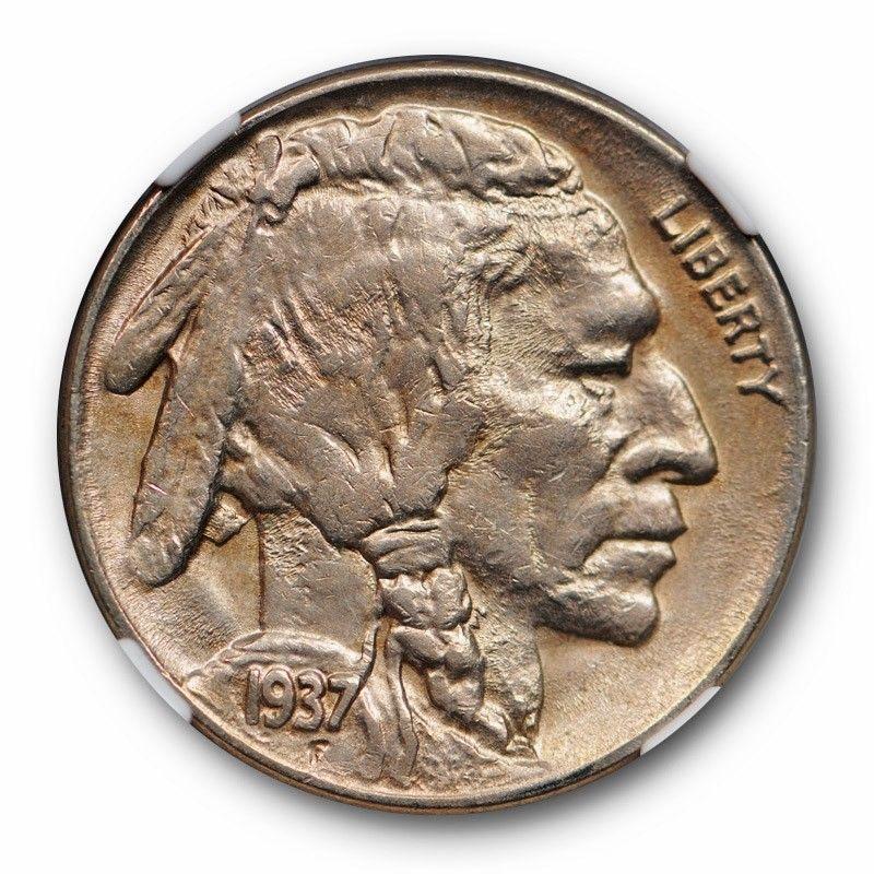 1937-D Buffalo Nickel Graded PCGS AU53