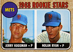 1968 Topps Nolan Ryan RC Card