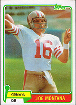 1981 Topps Joe Montana RC Card